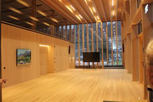 Eingangsbereich in moderner Holzbauweise