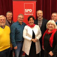 MdEP Maria Noichl im Kreis der SPD Blaichach und Landratskandidat Markus Kubatschka